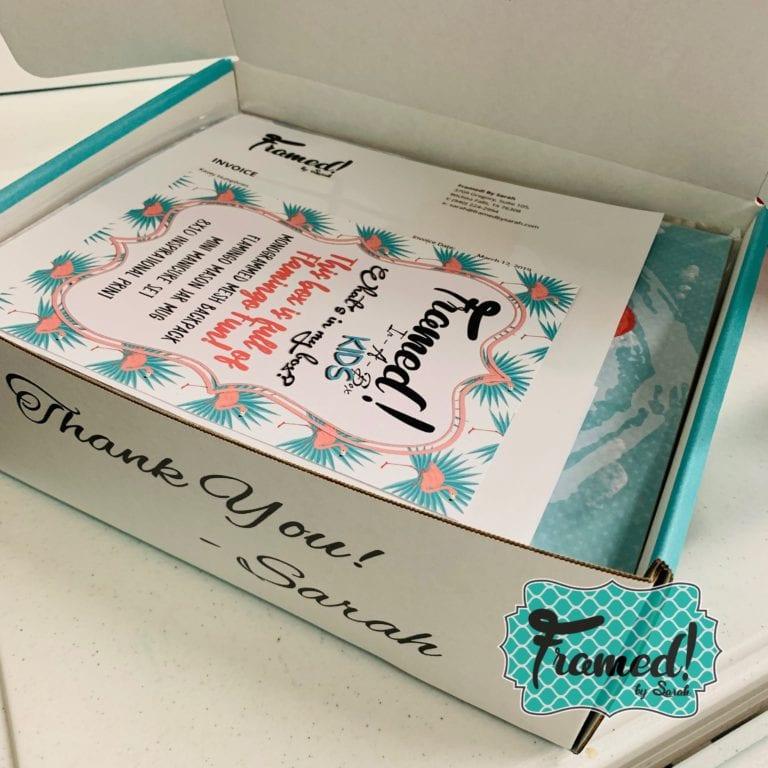 Kids Subscription Box Flamingo Fun- Framed! by Sarah