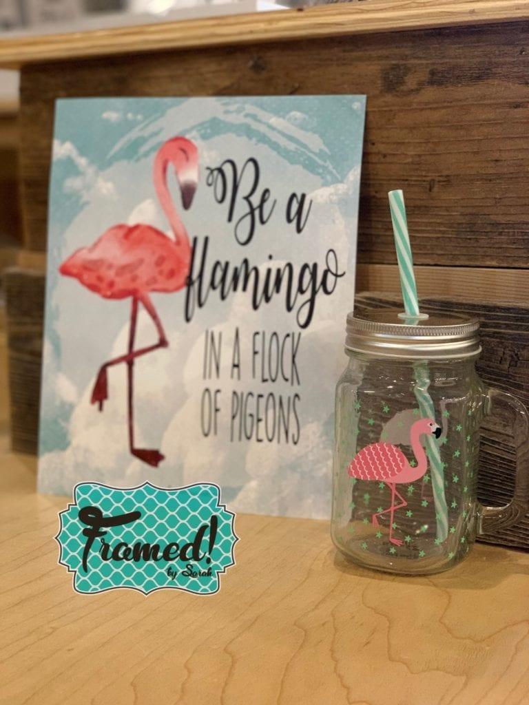 Kids Subscription Box Flamingo-Framed! by Sarah