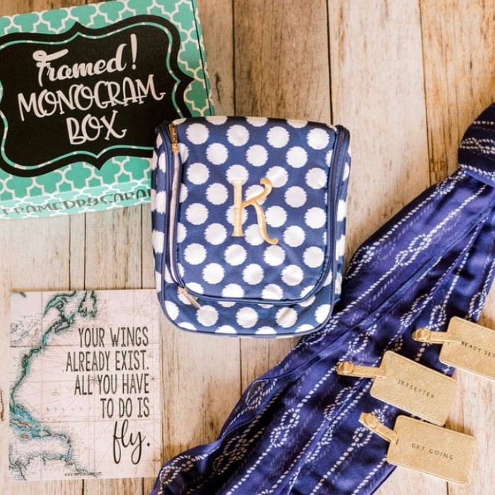 "March Monogram Box – ""The Weekend Getaway"""