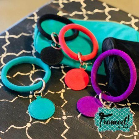 Monogrammed Plush Keychain Bracelet