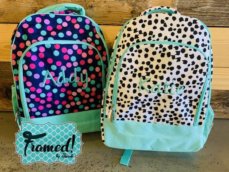 Back to School Monogram Backpack
