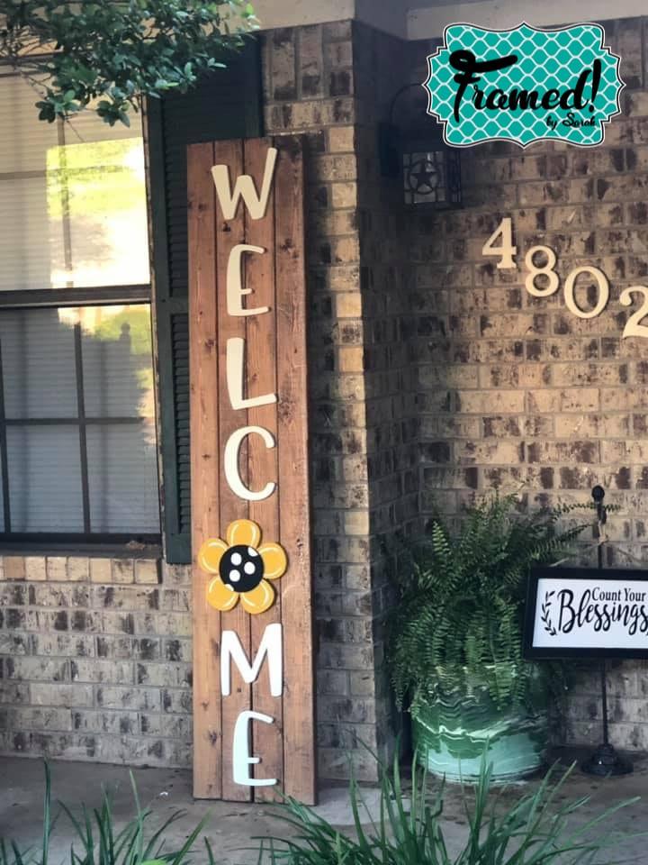 Spring DIY Welcome Sign