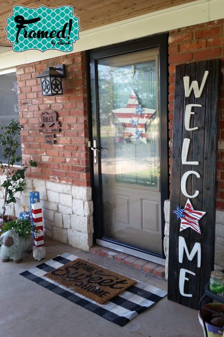 Patriotic DIY Porch Decor