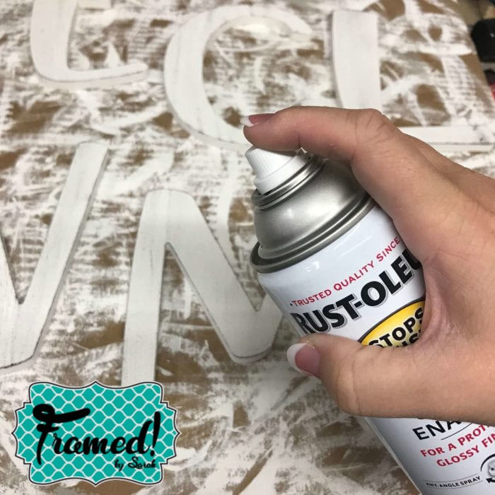 Painting Easy DIY Welcome Sign