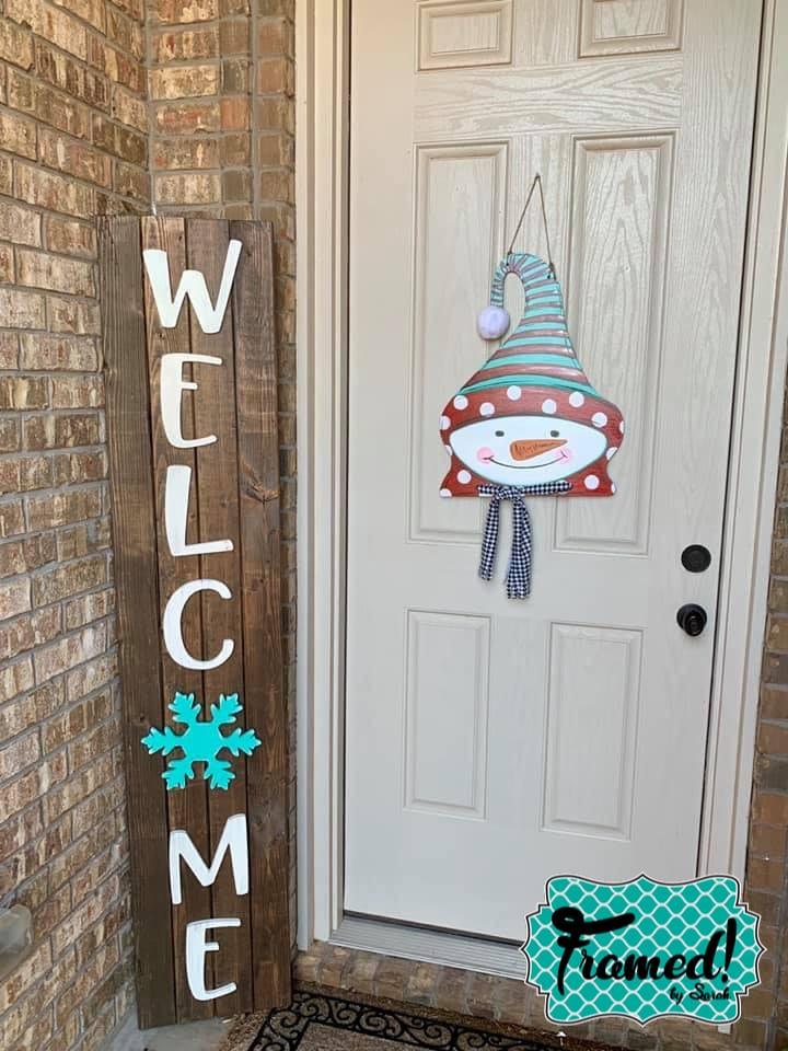 Winter Snowflake DIY Welcome Sign and Door Hanger
