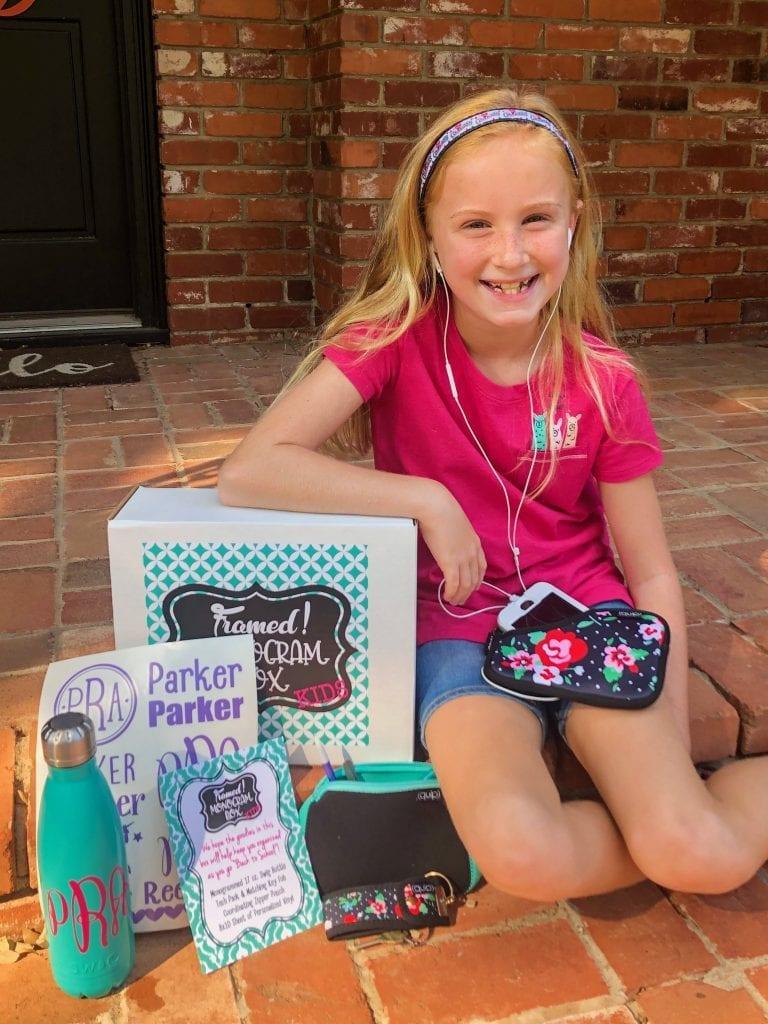 Parker with September Monogram Subscription Box for Kids