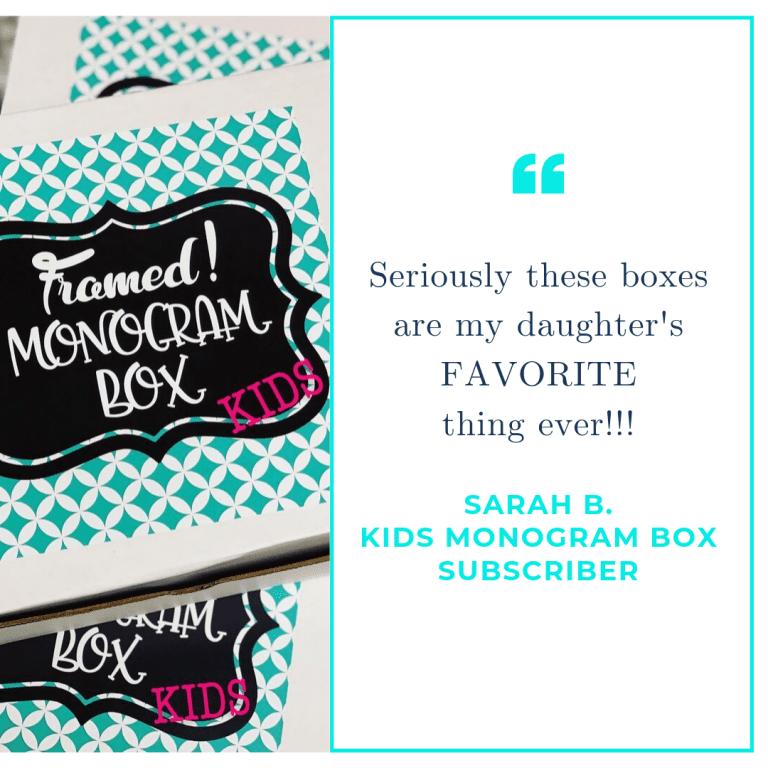 Monogram Subscription Box for Kids