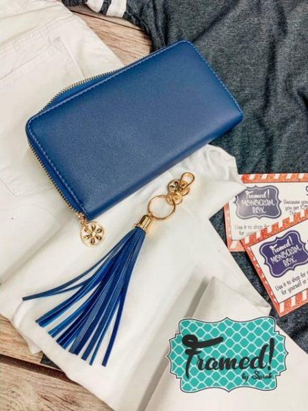 Oversized Zipper Wallet & Tassel Keyring