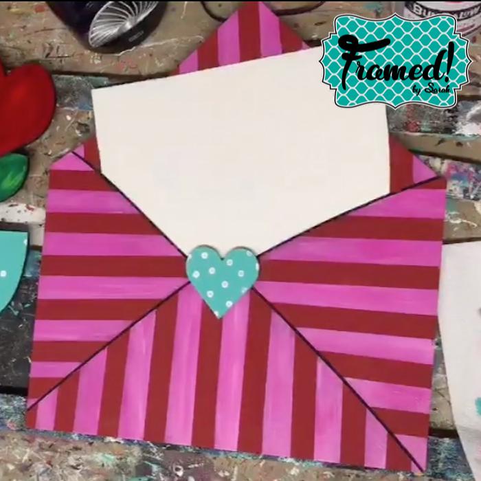 Envelope Framed by Sarah Whimsical Valentine Door Hanger DIY