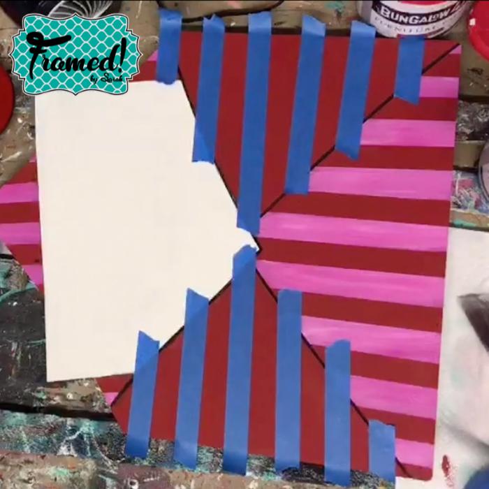 Stripes Framed by Sarah Whimsical Valentine Door Hanger DIY