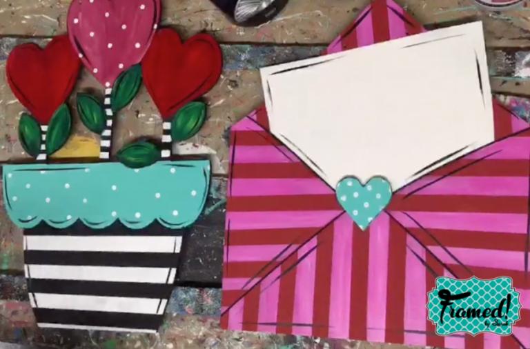 Whimsical Lines Framed by Sarah Valentine DIY Door Hangers