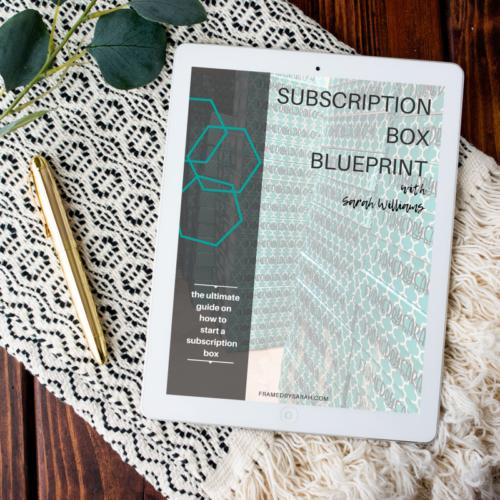 Subscription Box Blueprint ebook