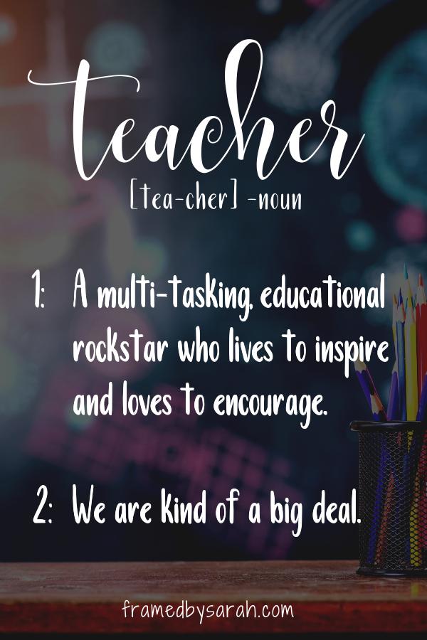 Teacher Definition - Educational Rockstar tees 4 teachers! Framed by Sarah