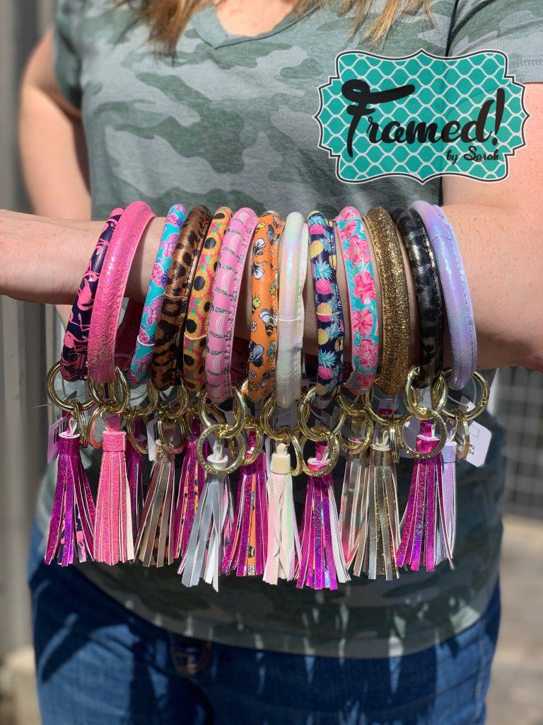 Teacher Gift Ideas, Summer Survival Kit for Teen Girls Framed by Sarah Bracelet Keychain
