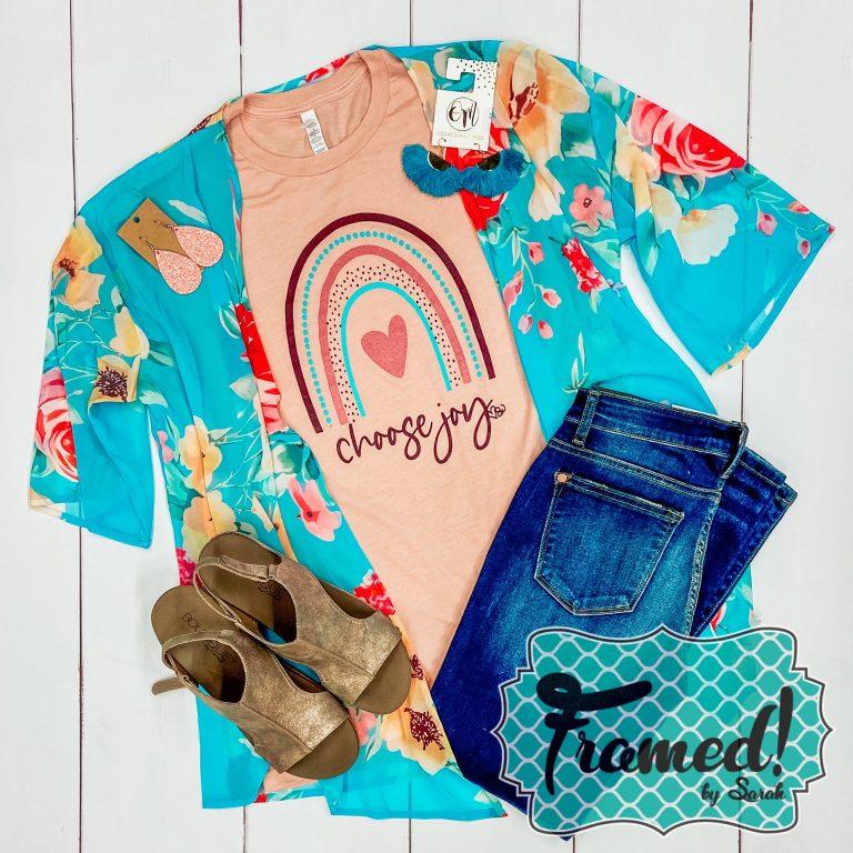 Choose Joy T-Shirt Colorful