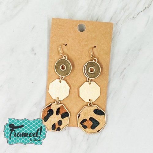 Leopard Circle Earrings