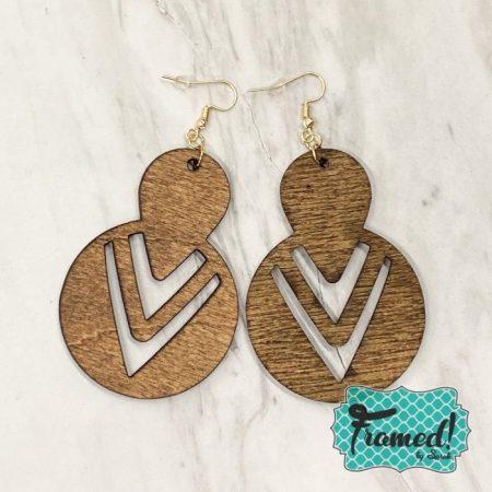 Wooden Cutout Earrings