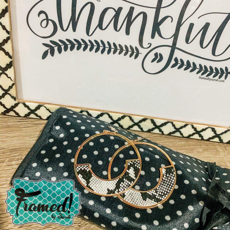 October Monogram Box Reveal Earrings
