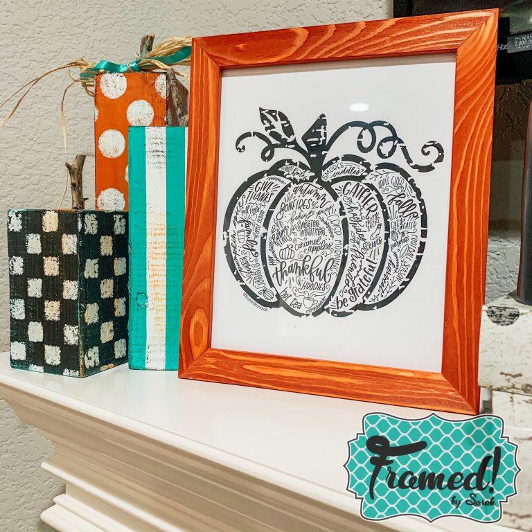 October Monogram Box Reveal Frame and Print