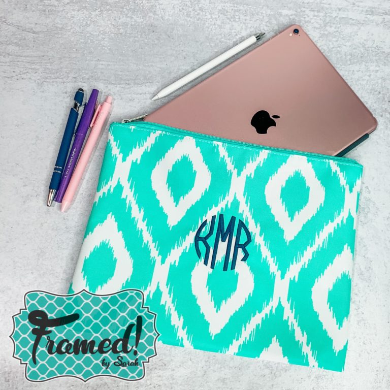 Oversized Zipper Pouch Always Cold Monogram Box Reveal Framed by Sarah