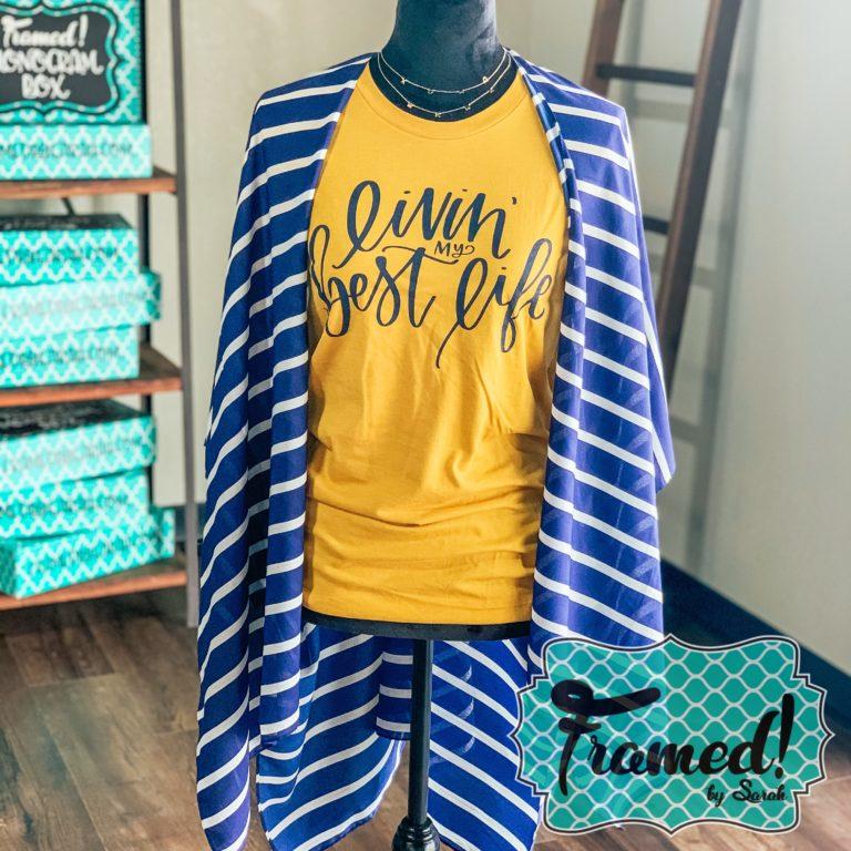 Navy Stripe kimono Summer Wardrobe Essentials Framed by Sarah