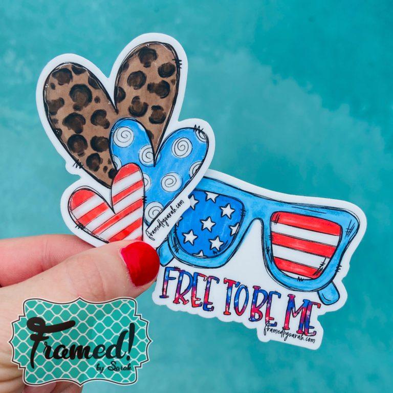 Patriotic Summer Fun Die Cut Stickers Summer Fun Monogram Box Reveal