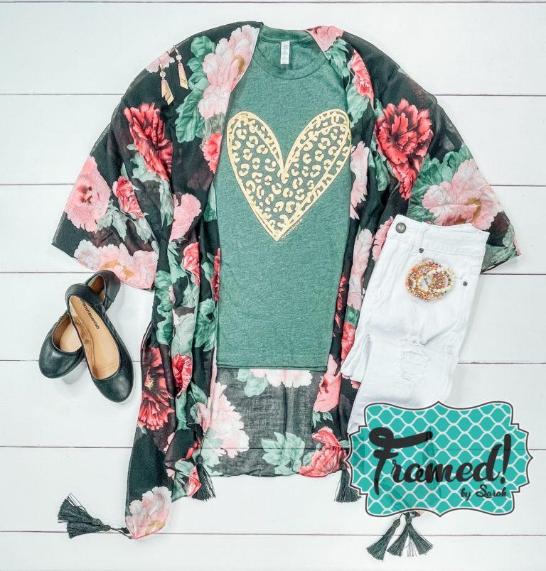 August 2021 T-shirt Club Floral Kimono