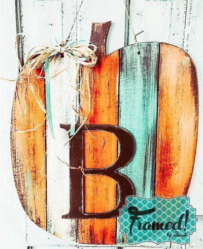 Reclaimed wood Pumpkin Door Hanger 2
