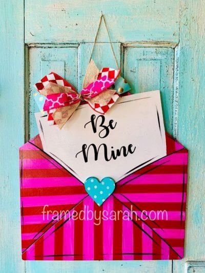 Envelope Valentine Door Hanger DIY Framed by Sarah