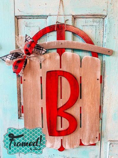 Vintage sled door hanger