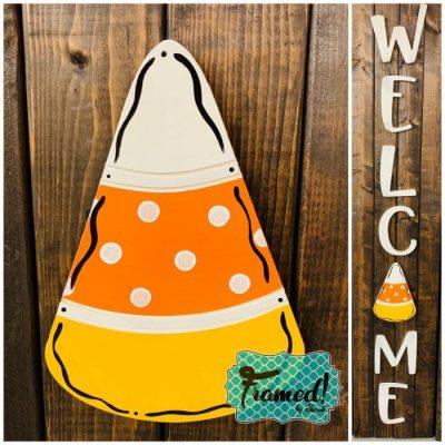 Welcome Board Candy Corn